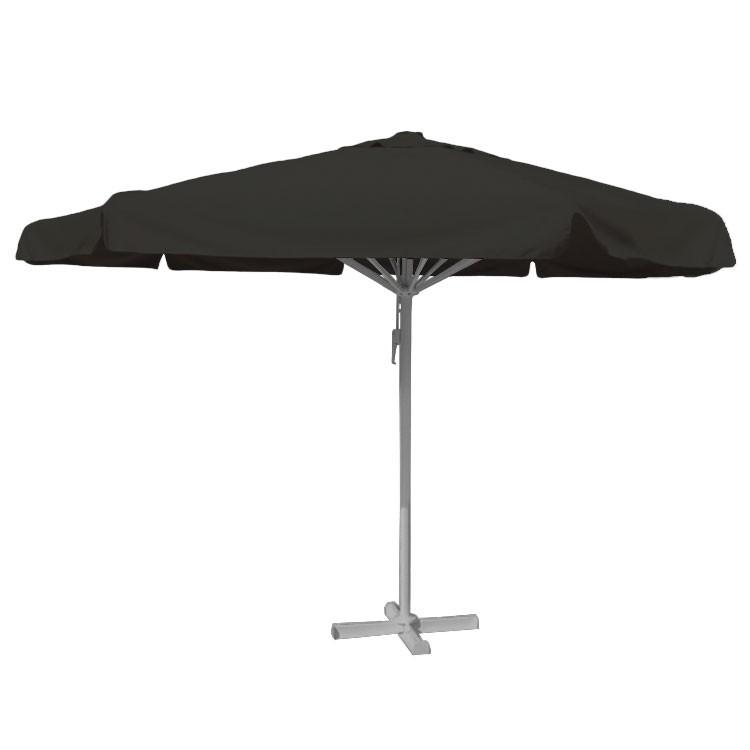 Zwarte horeca parasol 5 meter rond