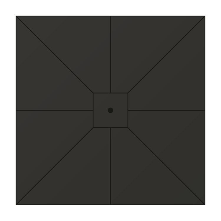 Doek horeca parasol zwart