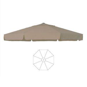 Parasoldoek ecru ø5 m rond