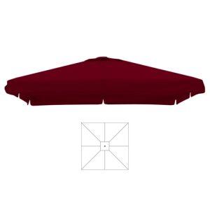 Parasoldoek bordeaux rood 4x4 m