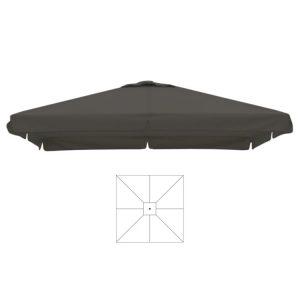 Parasoldoek grijs 4x4 m